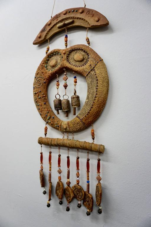Doublesided Ceramic Hanging Sculpture, 1960s 3