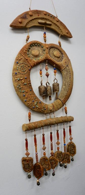 Doublesided Ceramic Hanging Sculpture, 1960s 6