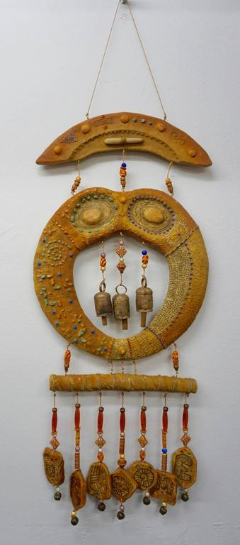 Doublesided Ceramic Hanging Sculpture, 1960s 7