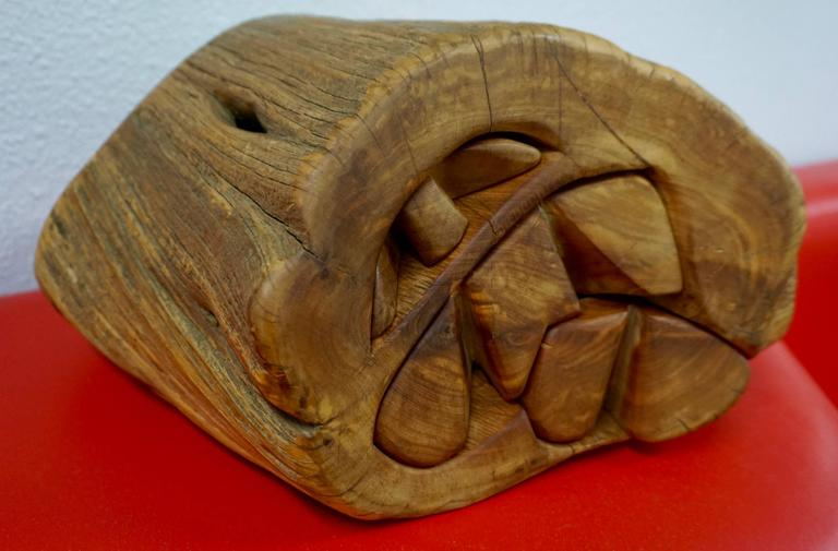 Hand Carved Organic Jewelry Box For Sale 4