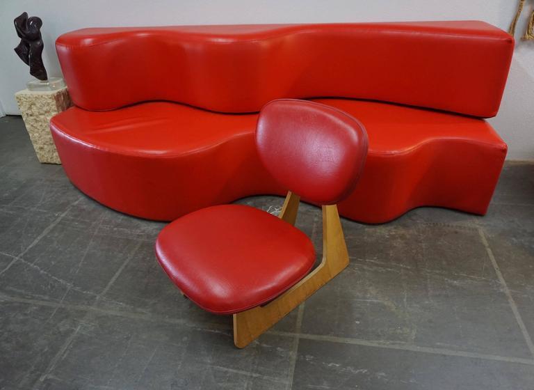 "Japanese ""Teiza"" Chair by Daisaku Choh 3"