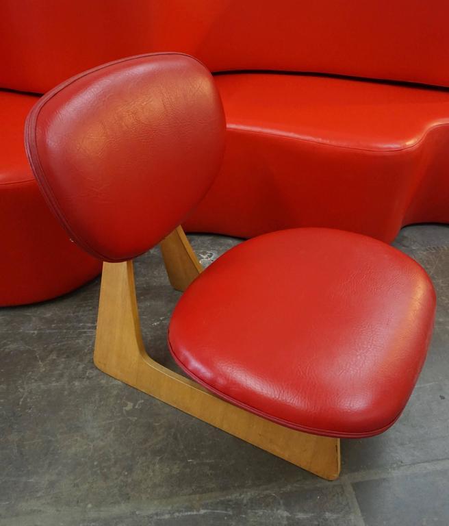 "Japanese ""Teiza"" Chair by Daisaku Choh 6"