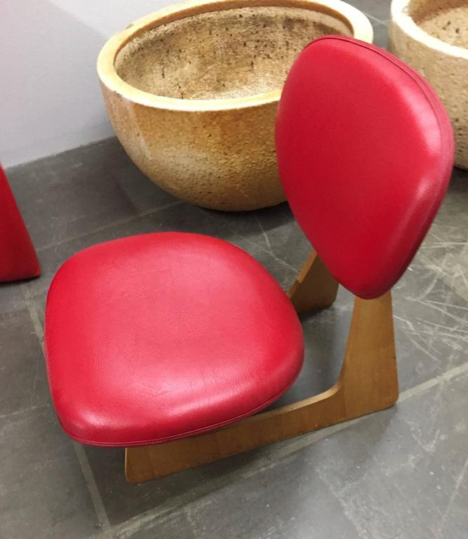"Japanese ""Teiza"" Chair by Daisaku Choh 8"