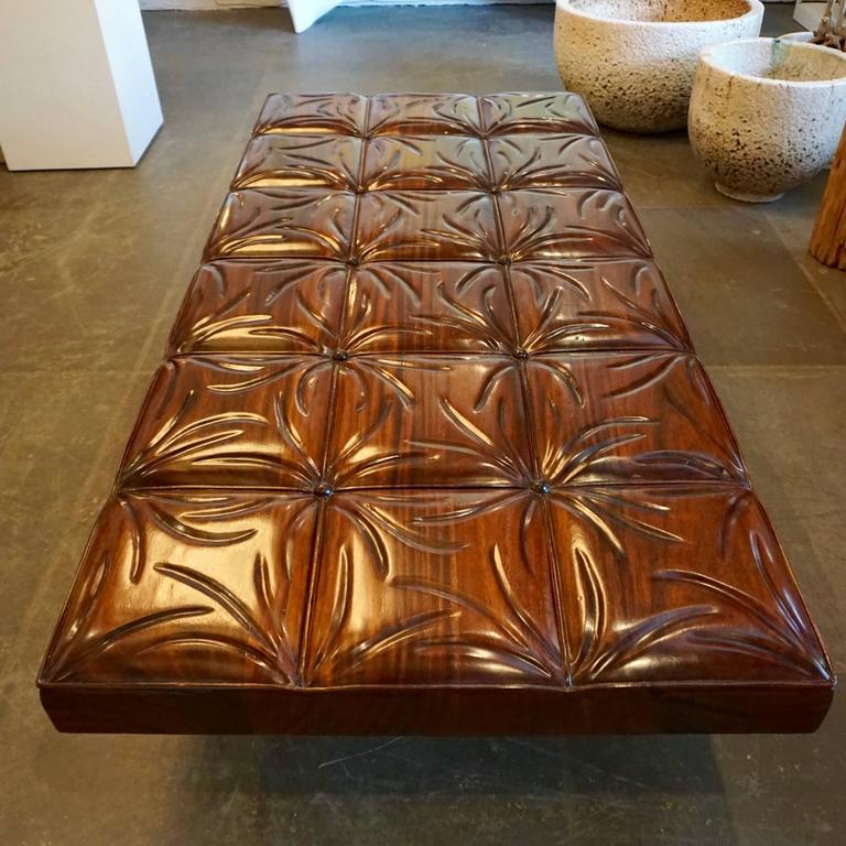 Unique Handcrafted Mahogany Bench 2