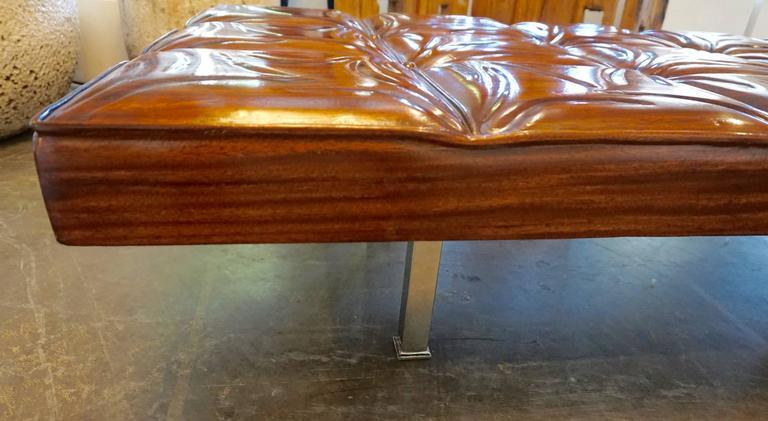 Unique Handcrafted Mahogany Bench 4