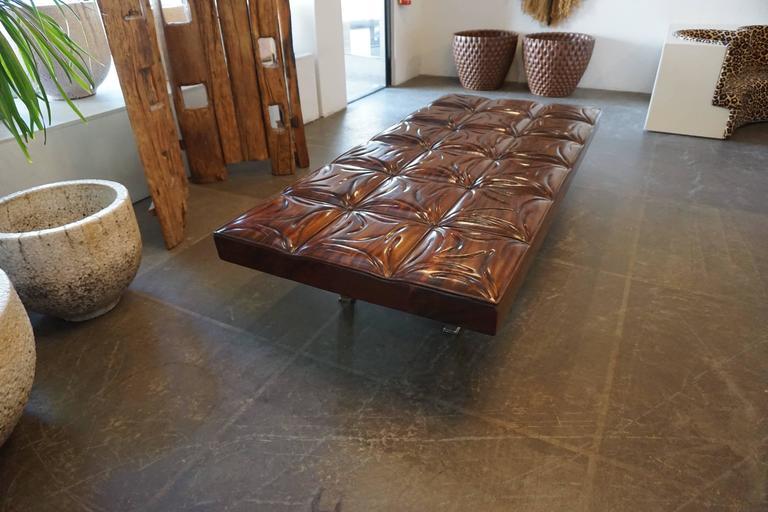 Unique Handcrafted Mahogany Bench 5