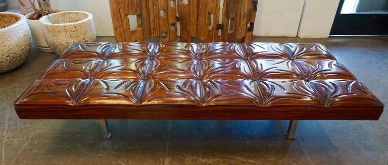 Unique Handcrafted Mahogany Bench 7