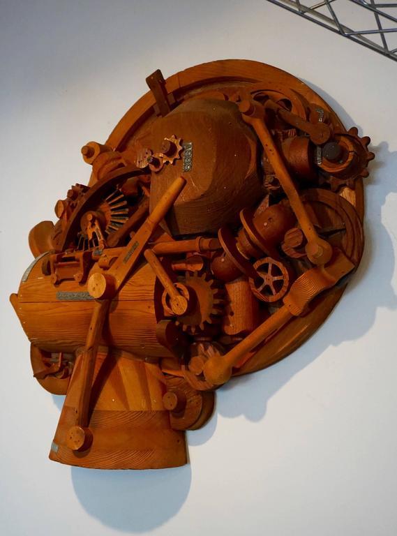 1960s Redwood Industrial Sculpture 2