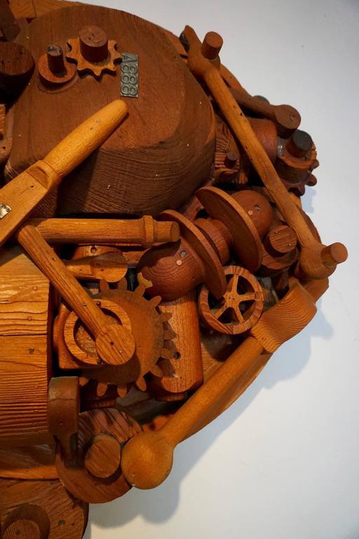 1960s Redwood Industrial Sculpture 3