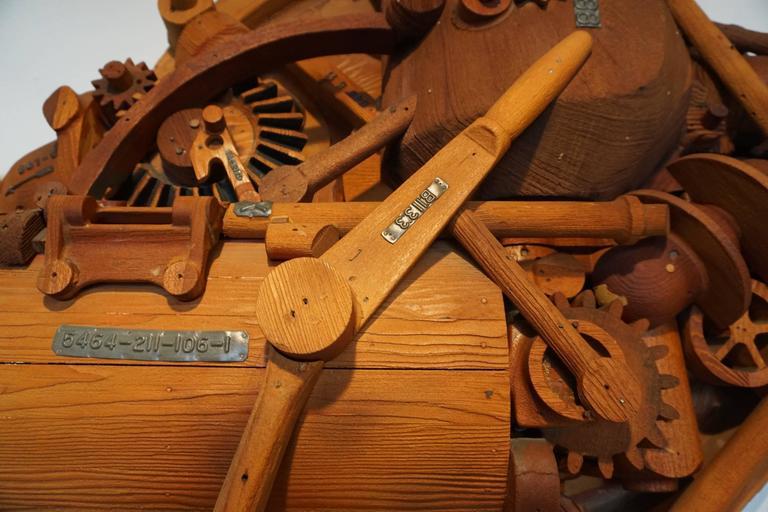 1960s Redwood Industrial Sculpture 5