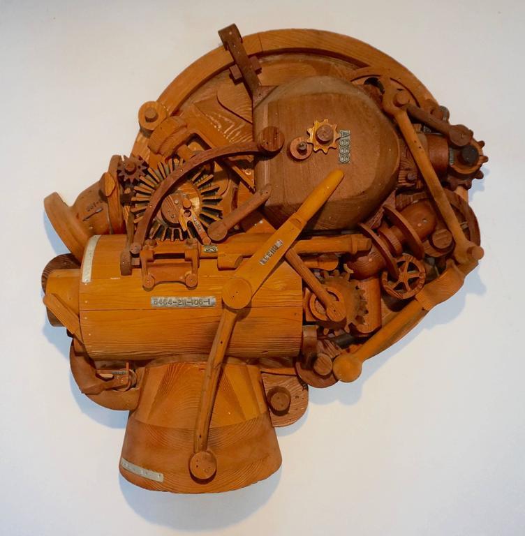 1960s Redwood Industrial Sculpture 7