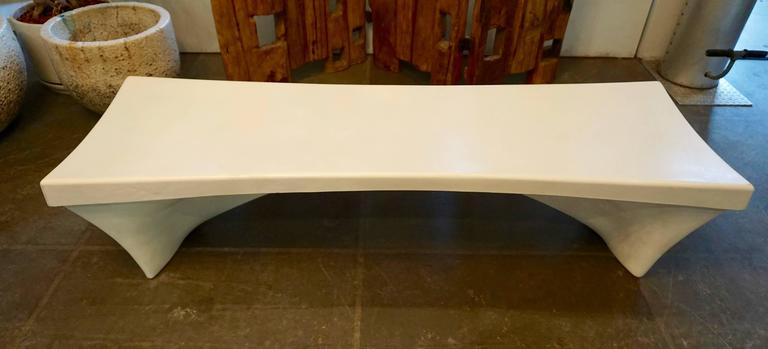Stylish Fiberglass Bench by Douglas Deeds 2