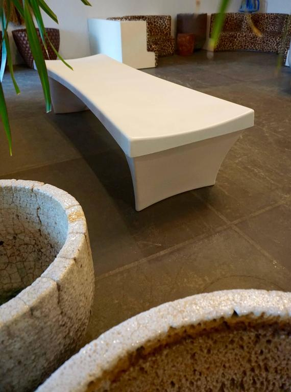 Stylish Fiberglass Bench by Douglas Deeds 6