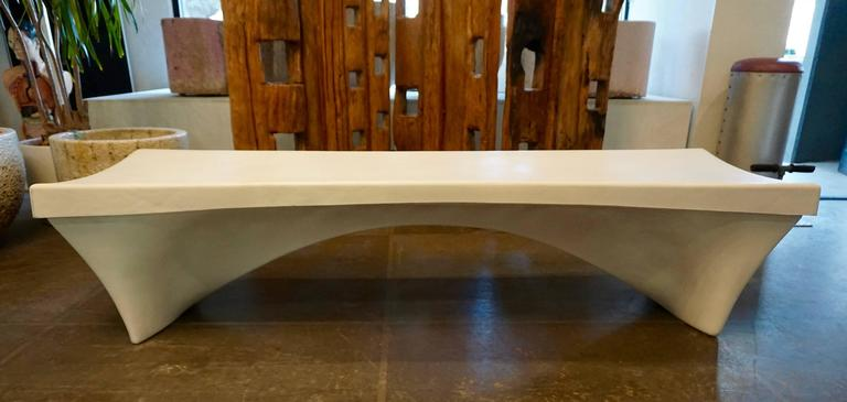 Stylish Fiberglass Bench by Douglas Deeds 7