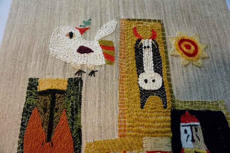 American Handwoven Tapestry by Nancy Nash For Sale