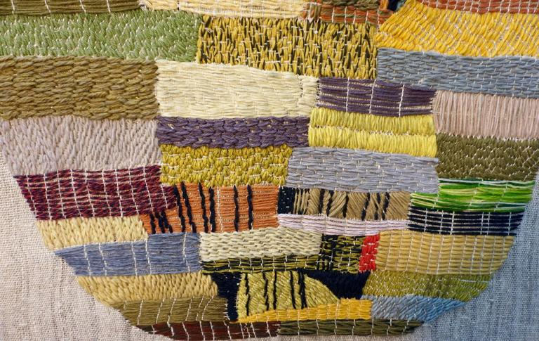 Mid-20th Century Handwoven Tapestry by Nancy Nash For Sale