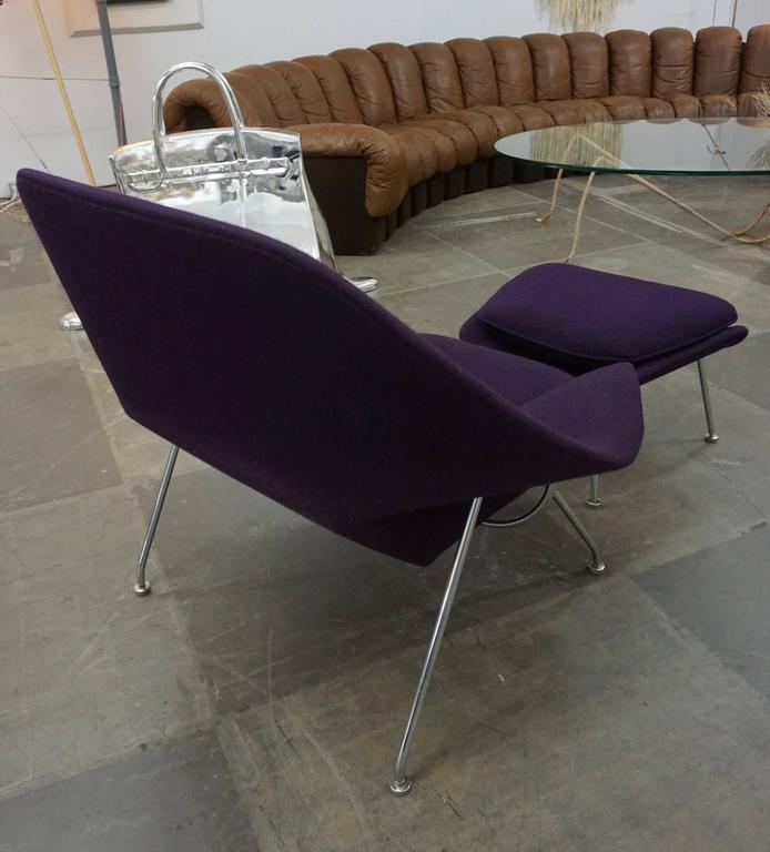 "Late 20th Century Eero Saarinen ""Womb"" Lounge Chair and Ottoman For Sale"