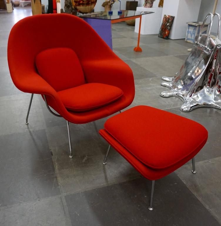 "Eero Saarinen ""Womb"" Lounge Chair and Ottoman For Sale 2"