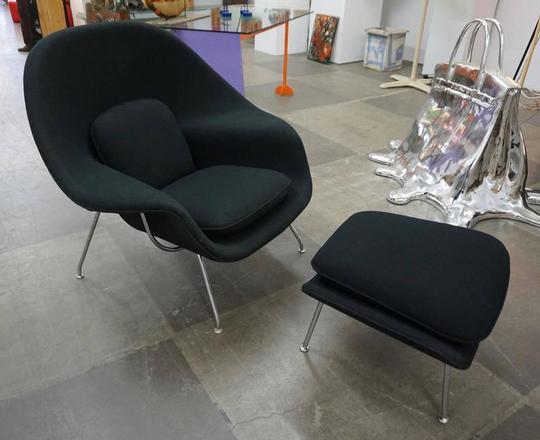 "Eero Saarinen ""Womb"" Lounge Chair and Ottoman 8"