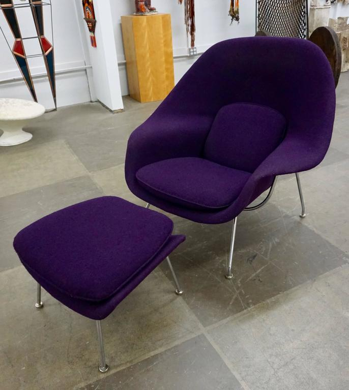 "Eero Saarinen ""Womb"" Lounge Chair and Ottoman For Sale 4"