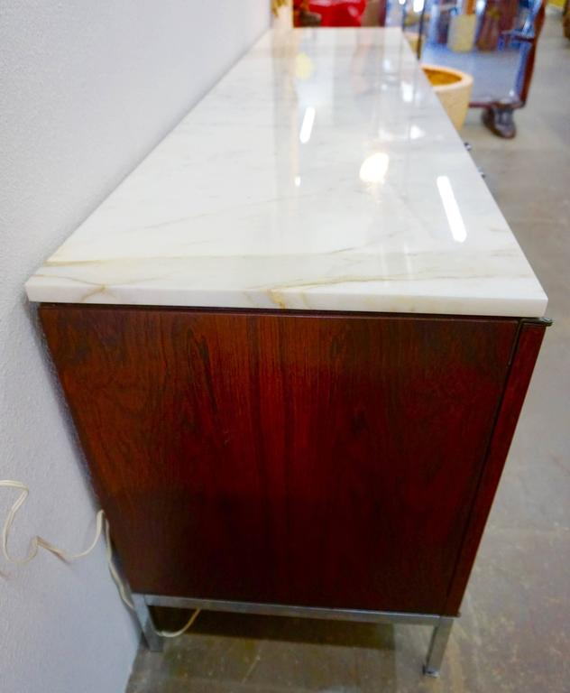 Knoll Rosewood Credenza with Marble Top 2