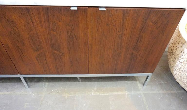 Knoll Rosewood Credenza with Marble Top 3