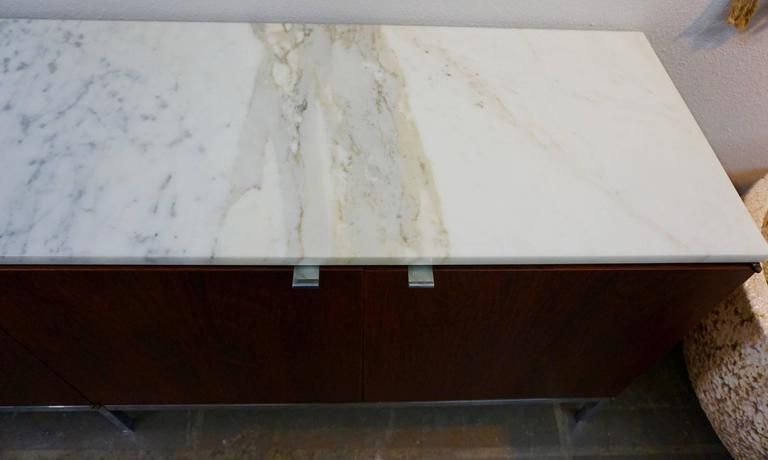 Knoll Rosewood Credenza with Marble Top 4