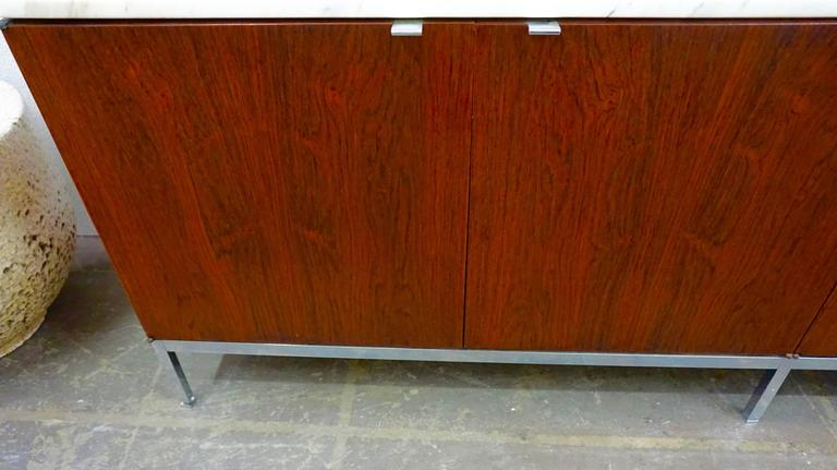 Knoll Rosewood Credenza with Marble Top 5