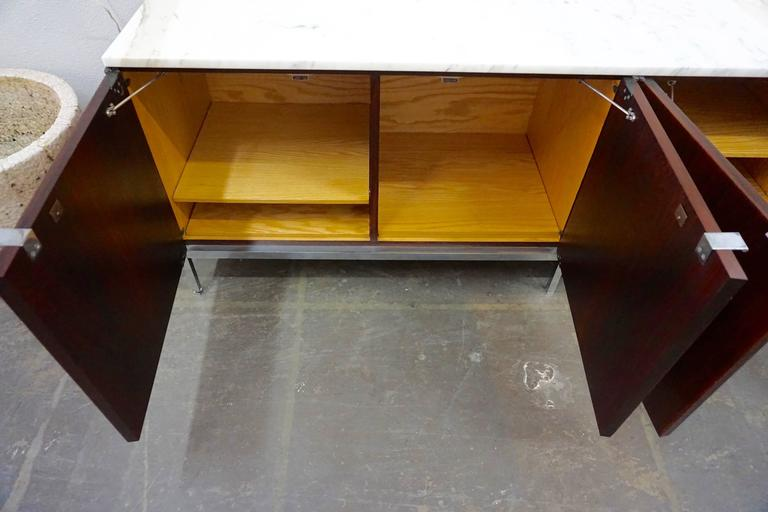 Knoll Rosewood Credenza with Marble Top 7