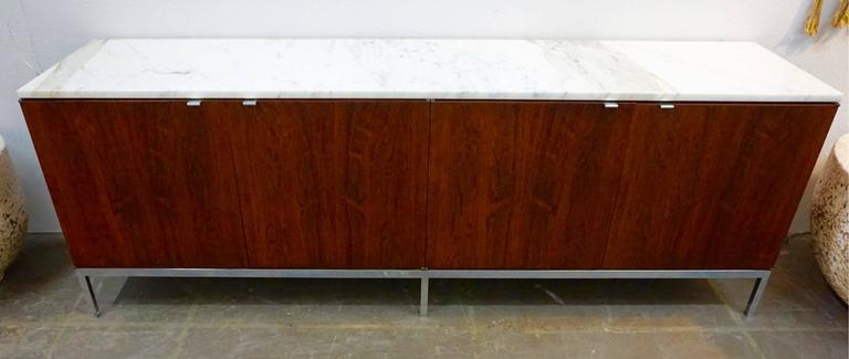 Knoll Rosewood Credenza with Marble Top 9