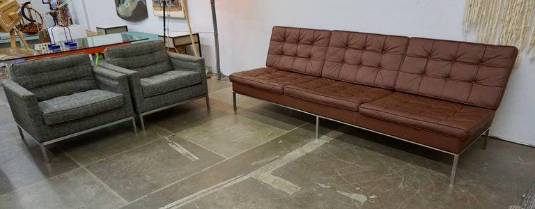 Florence Knoll Leather Sofa 2