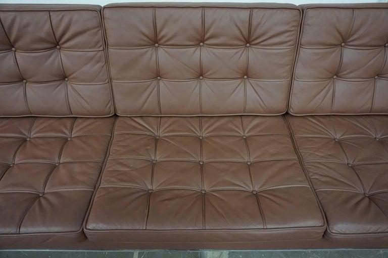 Florence Knoll Leather Sofa 3
