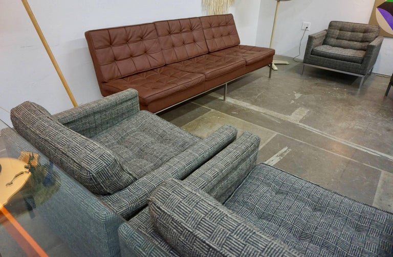 Florence Knoll Leather Sofa 4