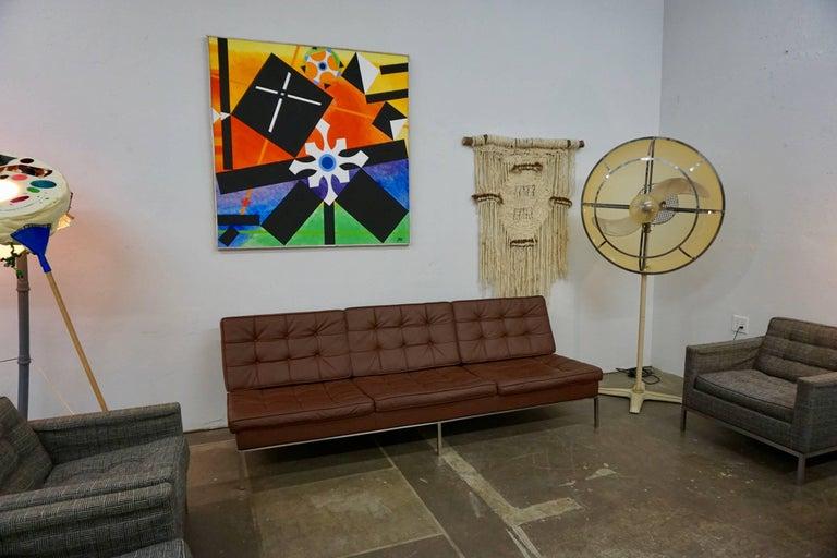 Florence Knoll Leather Sofa 5