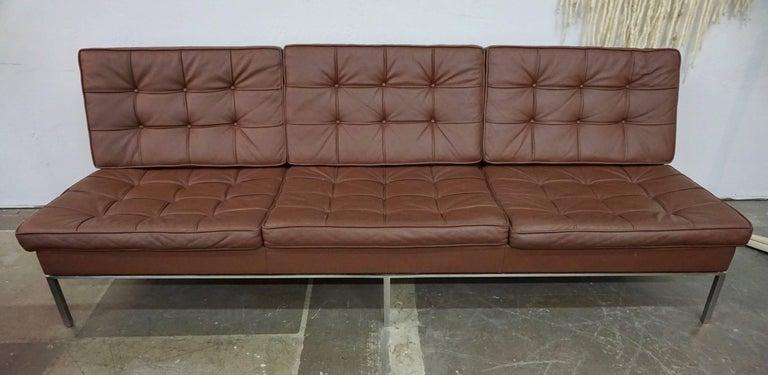 Florence Knoll Leather Sofa 6