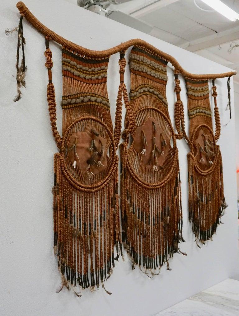 Tribal Art / 1960s Hippie Wall Hanging Combo 2