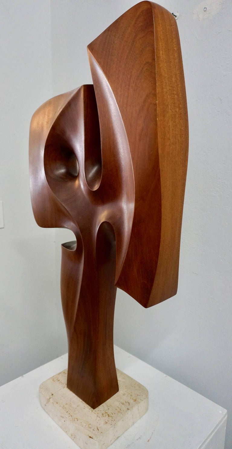 Abstract Organic Wood Sculpture by Henry Moretti 3