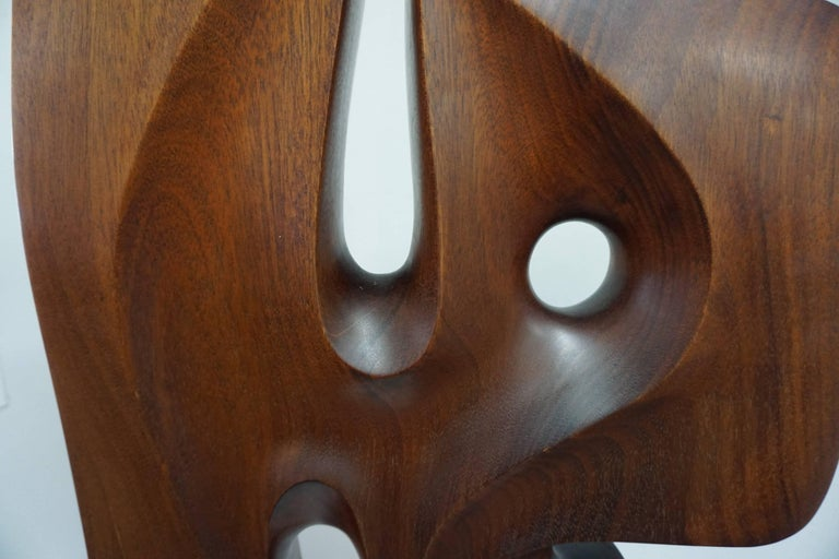 Abstract Organic Wood Sculpture by Henry Moretti For Sale 1