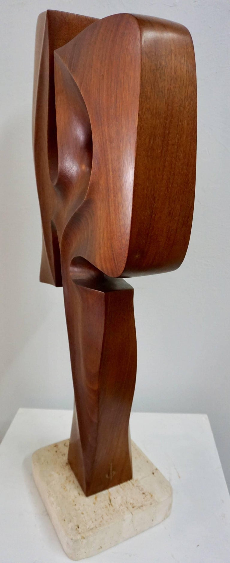 Abstract Organic Wood Sculpture by Henry Moretti 7