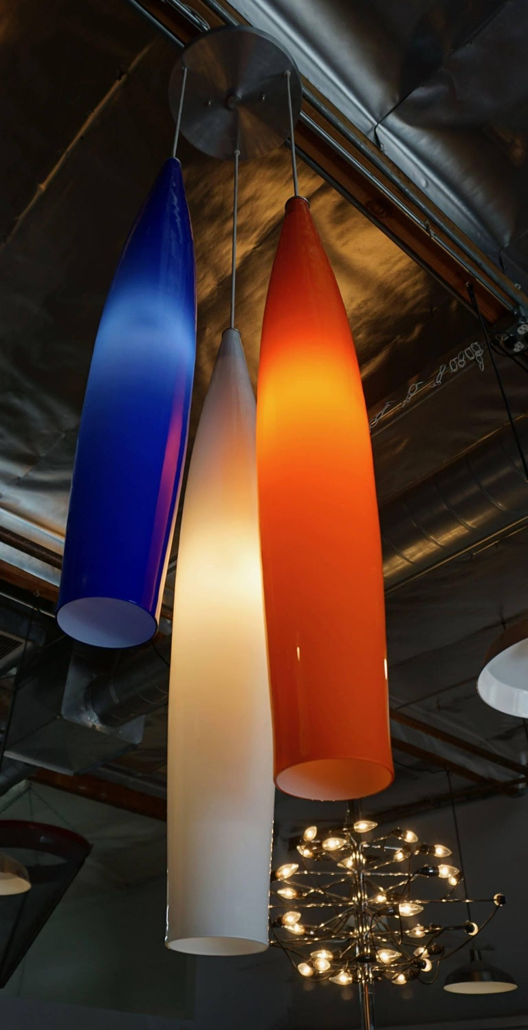 Italian Glass Pendant Lamp by Vistosi For Sale