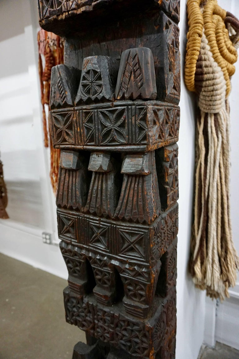 Hand-Carved Wood TOTEM 3