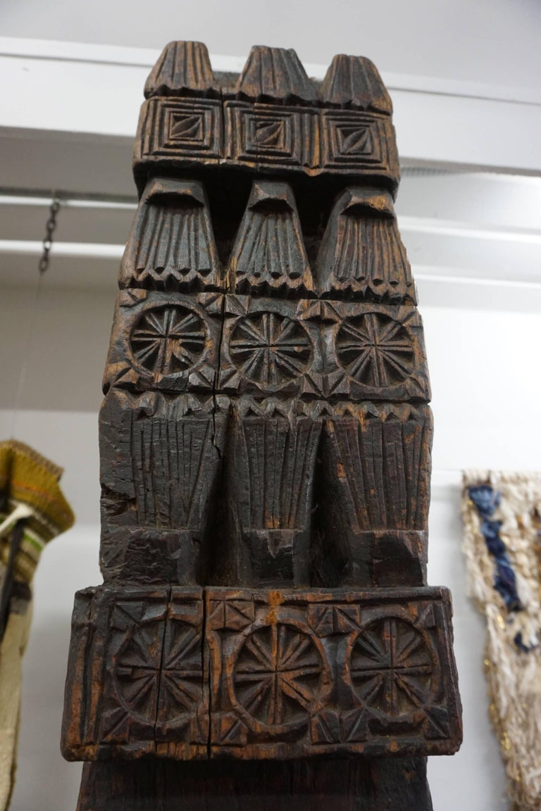Hand-Carved Wood TOTEM 5