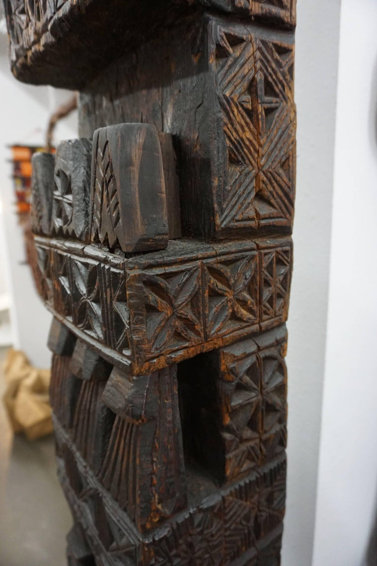 Hand-Carved Wood TOTEM 6