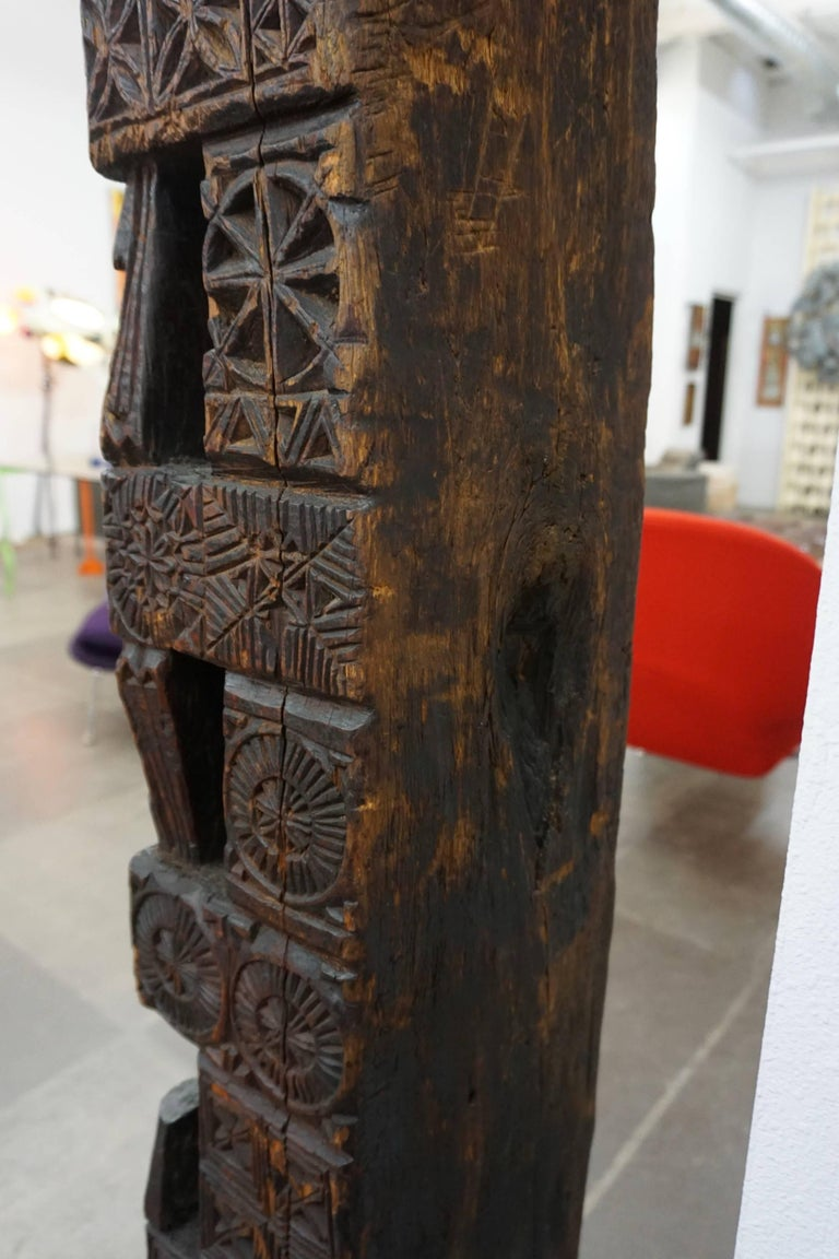 Hand-Carved Wood TOTEM 7