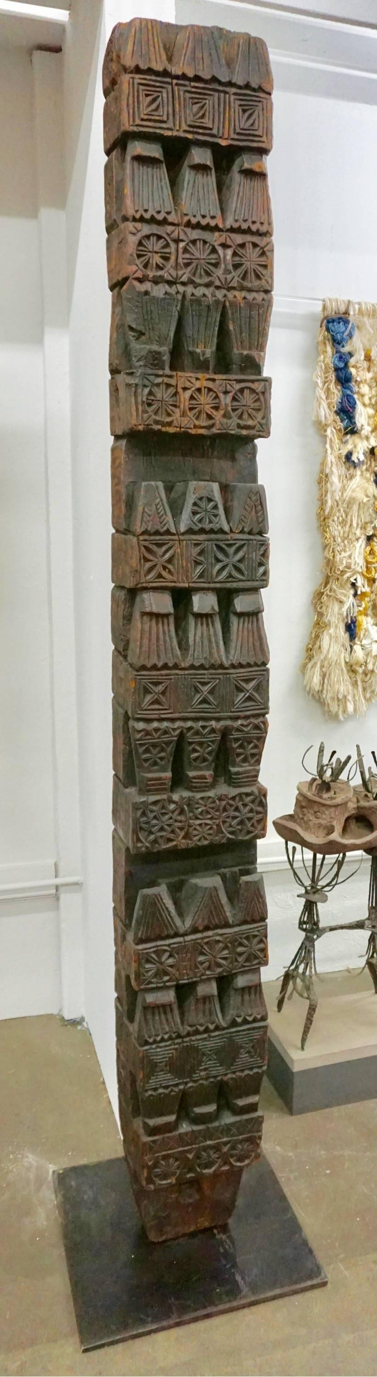 Hand-Carved Wood TOTEM 8