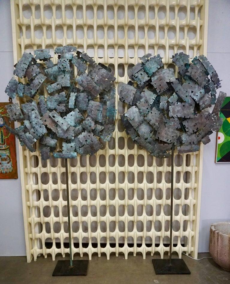 Pair of Brutalist Torchcut Sculptures 8