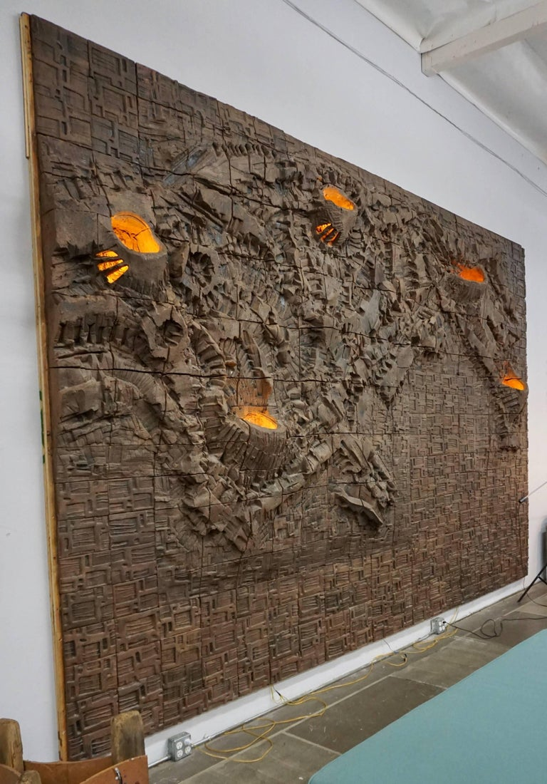 Massive Ceramic Wall Relief by Stan Bitters and John Bennett 2