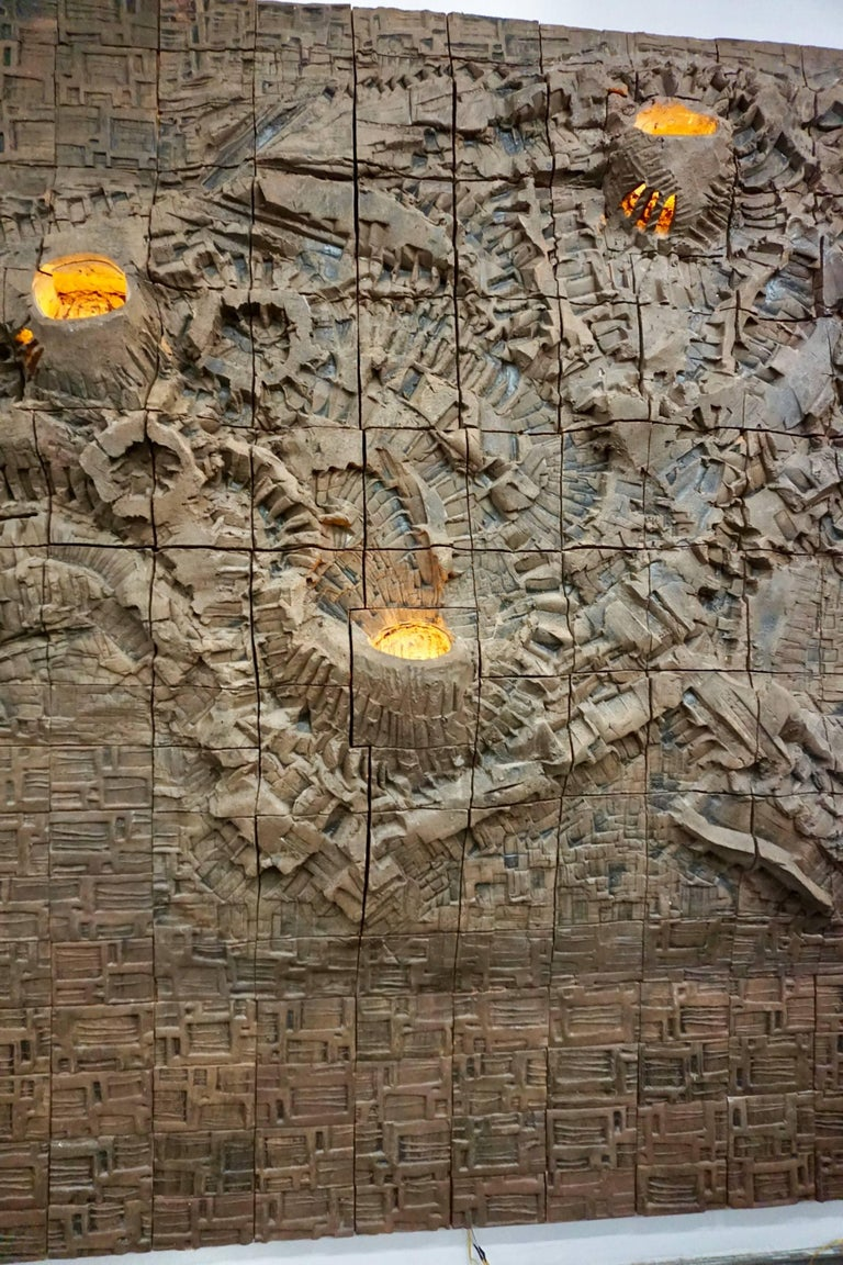 Massive Ceramic Wall Relief by Stan Bitters and John Bennett 6