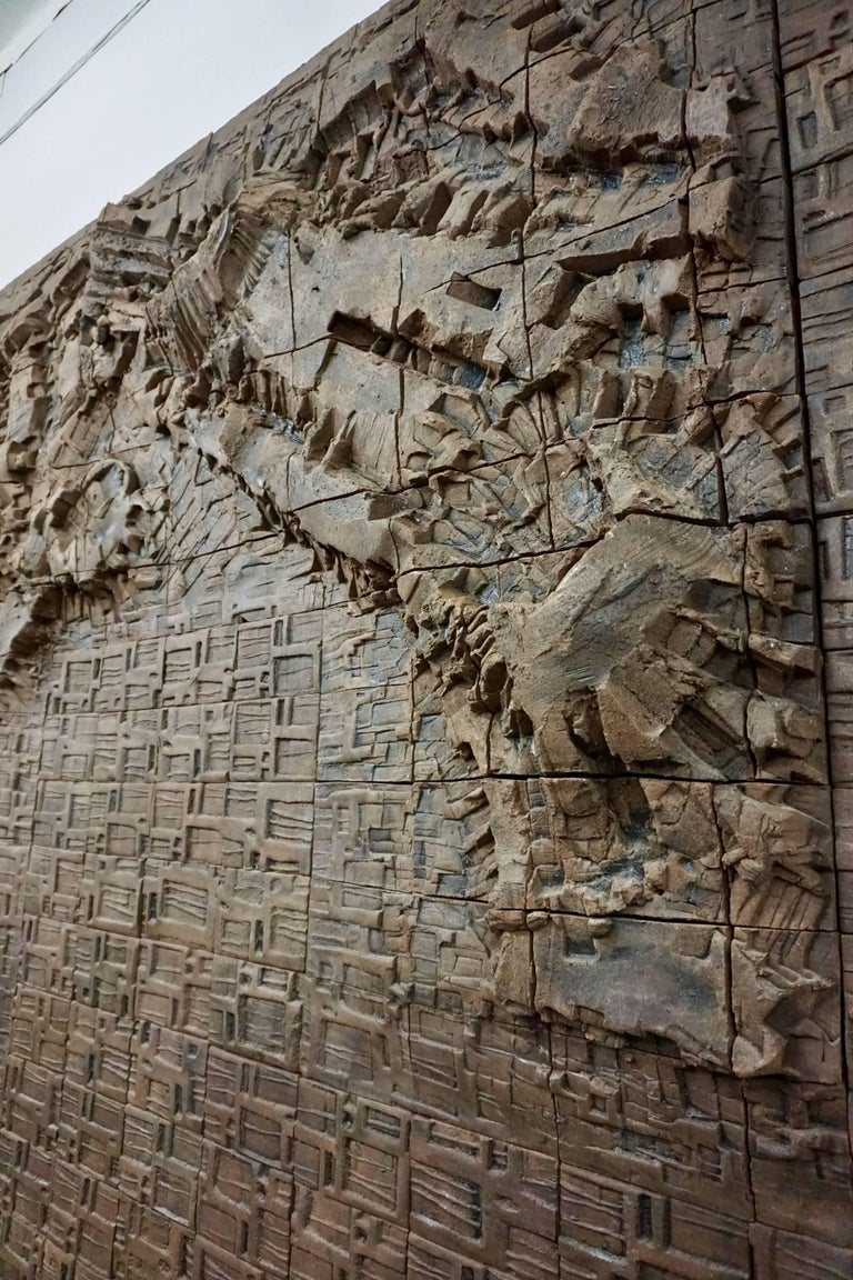 Massive Ceramic Wall Relief by Stan Bitters and John Bennett 8
