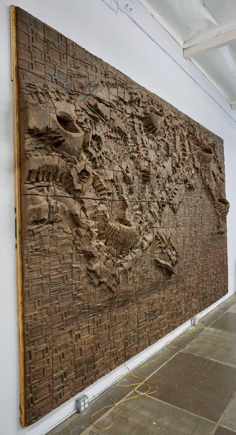 Massive Ceramic Wall Relief by Stan Bitters and John Bennett 9